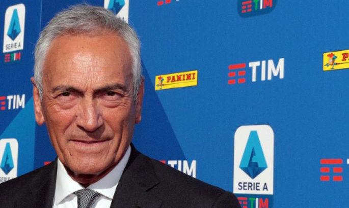 Президент Федерації футболу Італії: Ніколи не піду на дострокове завершення сезону
