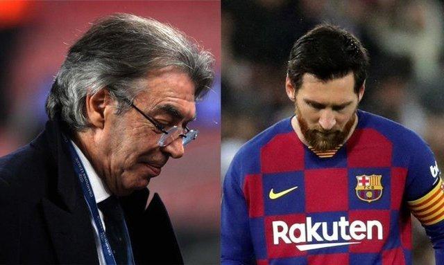 Моратти: Трансфер Месси в Интер? Он никогда не покинет Барселону