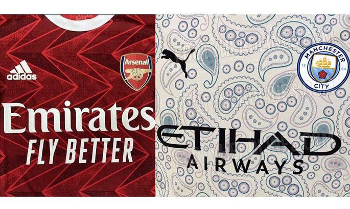 Появились фото новых форм Сити и Арсенала: у горожан инфузории-туфельки, а у канониров – зигзаги