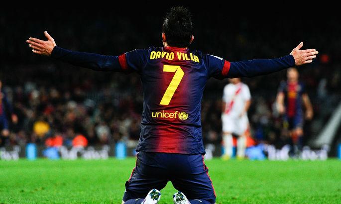 Девять лет назад Вилья забил прекрасный гол в финале Лиги чемпионов и помог Барсе обыграть МЮ