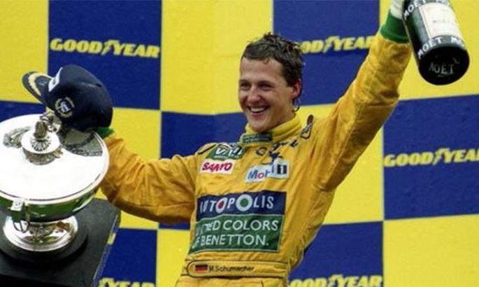 Як Шумахер вперше виграв етап Формули-1. ВІДЕО