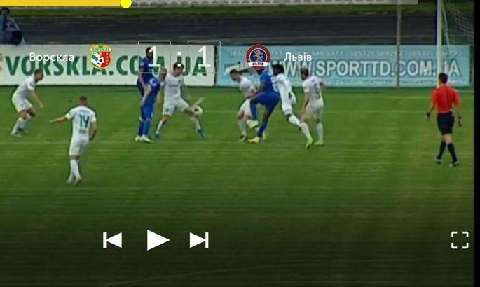 Експерт виправдав призначення пенальті у ворота Ворскли в матчі зі Львовом