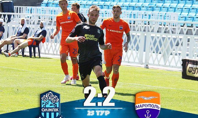 Олімпік - ФК Маріуполь 2:2. Відеоогляд матчу