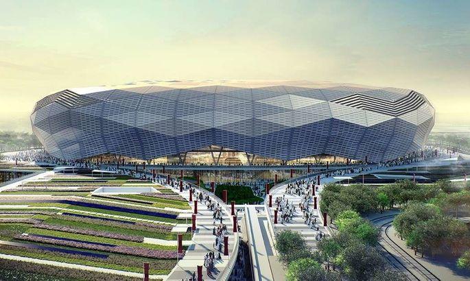 """""""Алмаз в пустыне"""". В Катаре открыли третий стадион к ЧМ-2022"""
