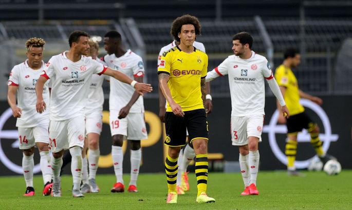Бундеслига. Дортмунд безвольно проиграл Майнцу, подвиг Фортуны в игре с Лейпцигом, победа Байера в дерби
