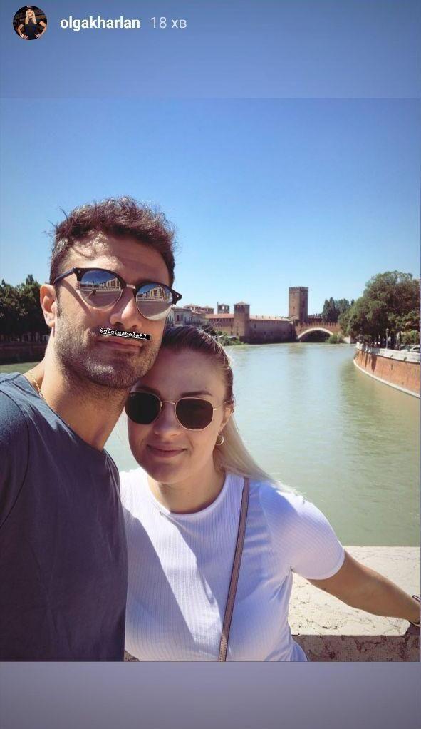 Ольга Харлан вместе со своим парнем отдыхает в городе всех влюбленных - итальянской Вероне. Фото - изображение 1