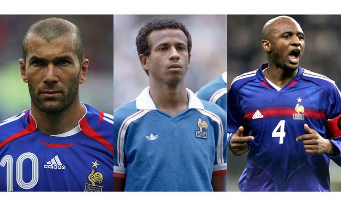 Счастливый день для французского футбола: сегодня день рождения отмечают Зидан, Виейра и Тигана