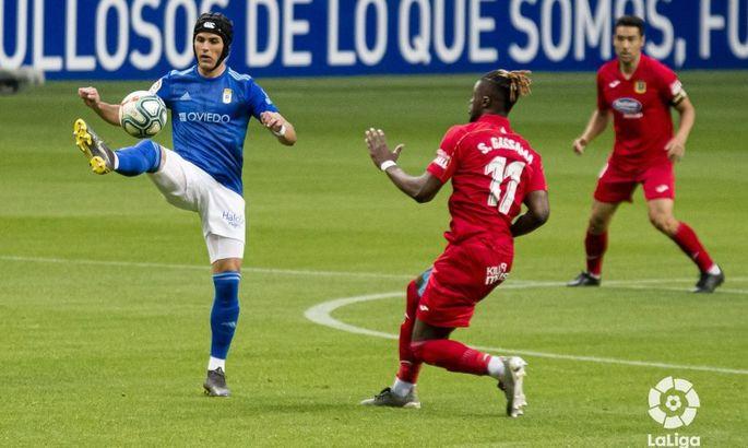 Лунин остался без работы в матче 35-го тура Сегунды