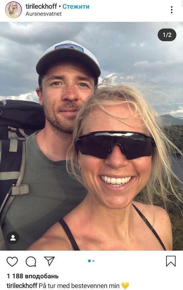 Тирил Экхофф вместе со своим мужем в выходной день путешествует по горам. Фото - изображение 1