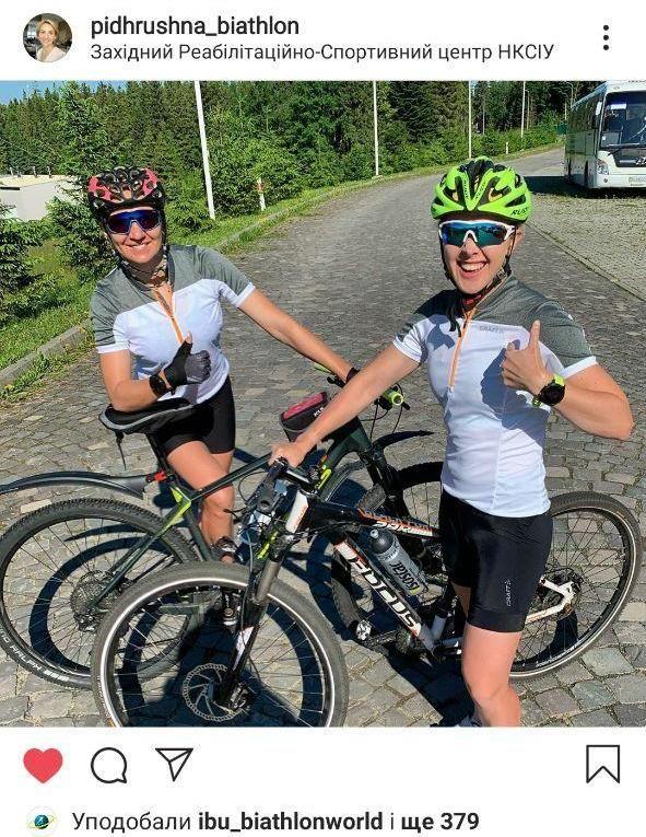 Юлия Джима и Елена Пидгрушная провели совместную велотренировку. Фото - изображение 1