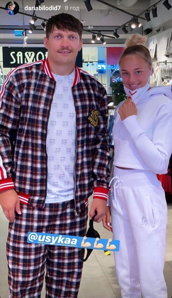 Два великих чемпиона: Дарья Билодид и Александр Усик встретились в столичном торговом центре. Фото - изображение 1