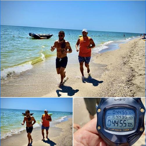 Утро настоящих чемпионов: Ломаченко и Митрофанов провели беговую тренировку на побережье. Фото - изображение 1