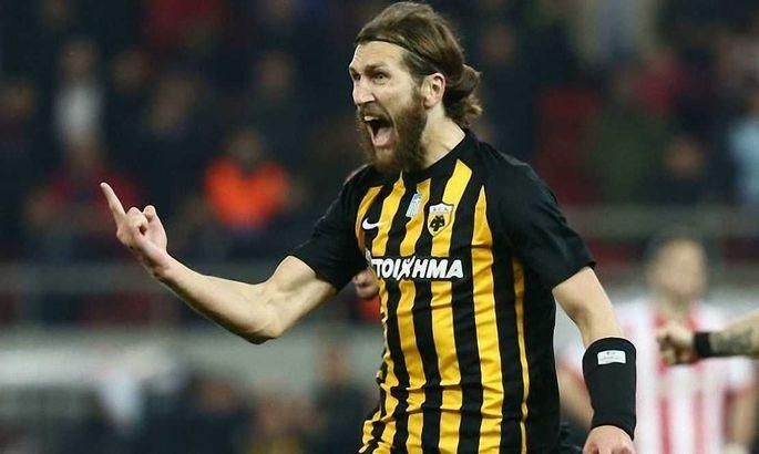 Чигринский забил третий гол в сезоне в матче с Панатинаикосом