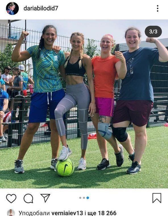 Дарья Билодид осваивает новый вид спорта. Фото - изображение 1