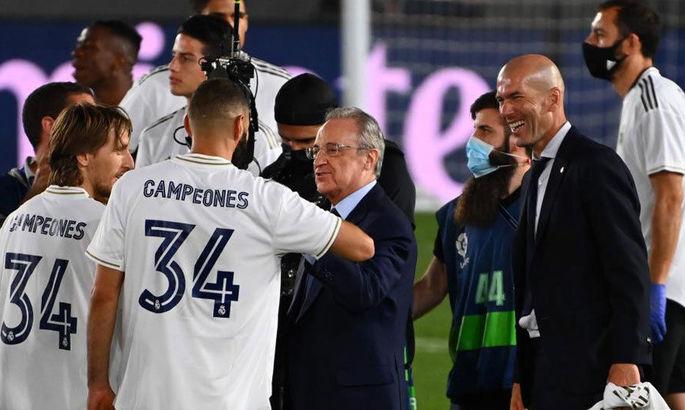 Флорентино Перес назвал Зидана благословением с небес и рассказал про будущее Рамоса в Мадриде