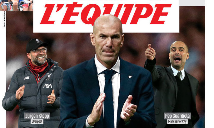 Зидан – лучший тренер мира на данный момент по версии L'Équipe