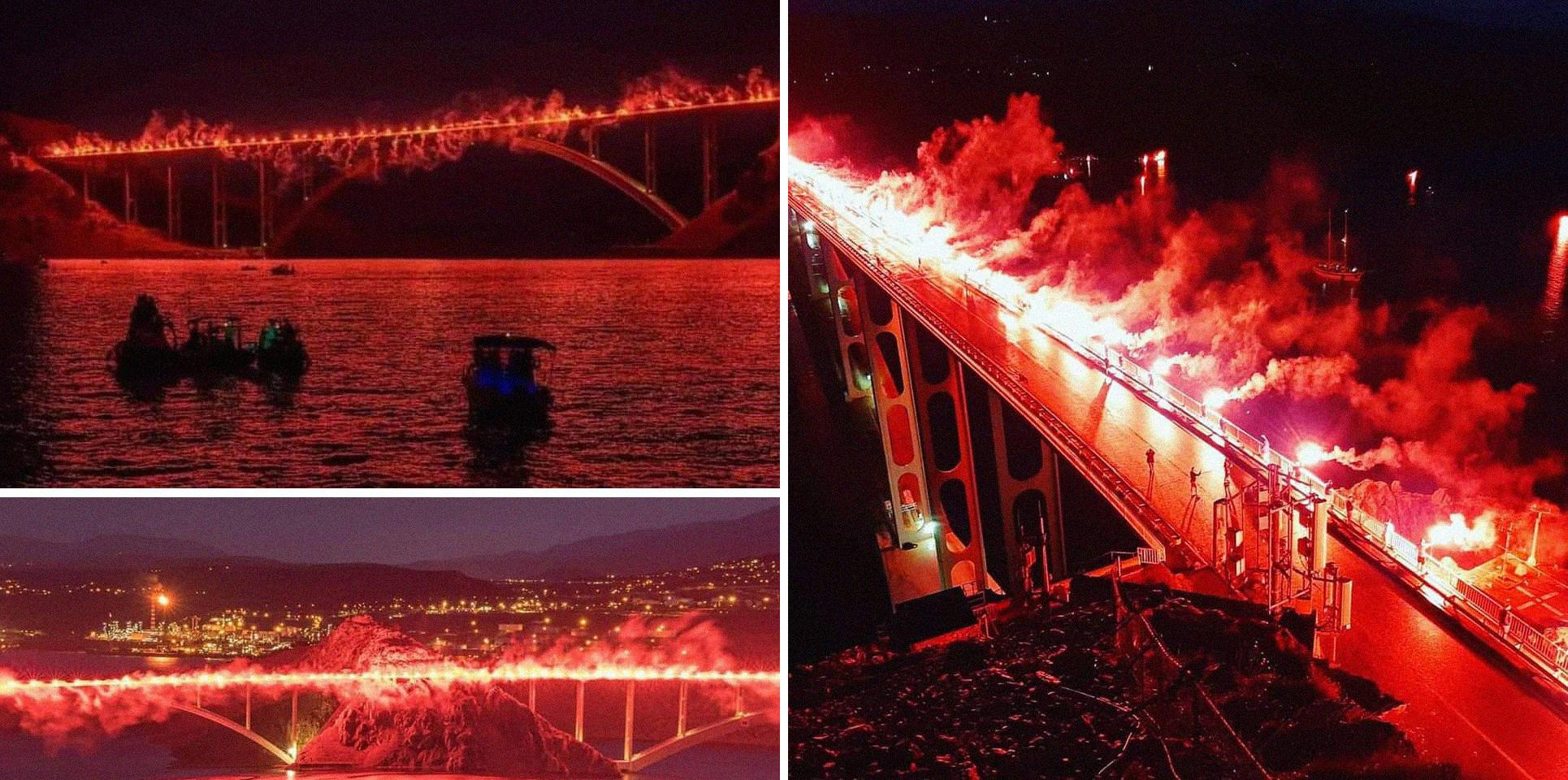 Огненный мост: фанаты Риеки зажгли 222 фаера в память про погибших за независимость Хорватии - изображение 1