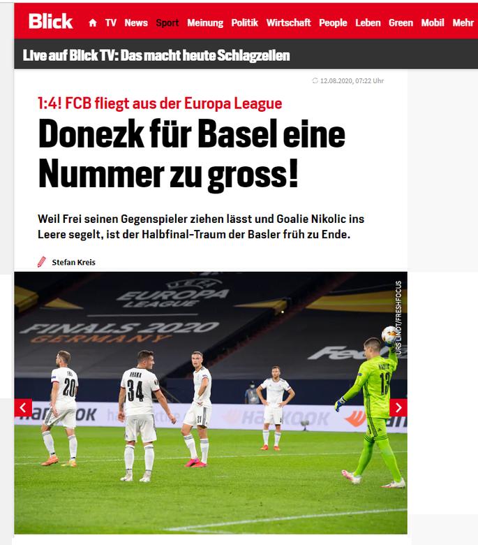 Шахтер не по зубам Базелю. Обзор швейцарских СМИ после матча Лиги Европы - изображение 2