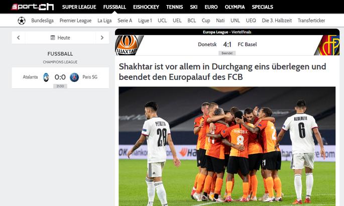 Шахтер не по зубам Базелю. Обзор швейцарских СМИ после матча Лиги Европы