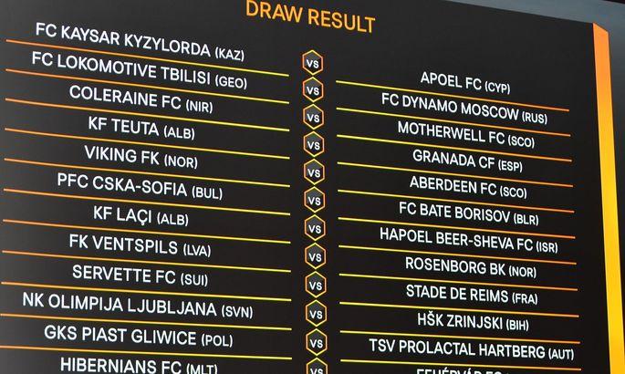 Состоялась жеребьёвка второго раунда квалификации ЛЕ. Колос, Тоттенхэм и Милан узнали соперников