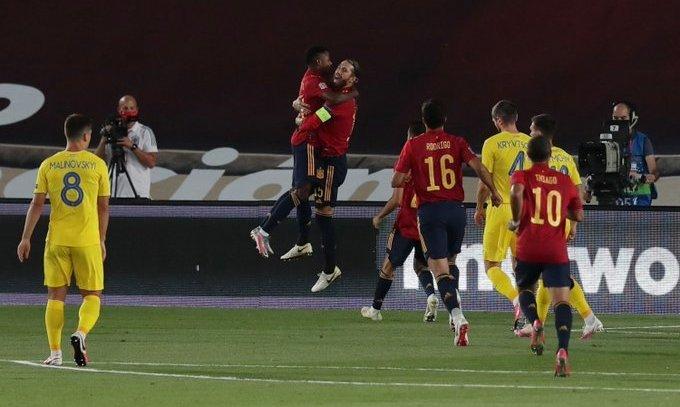 Испания - Украина 4:0. Видео голов и обзор матча