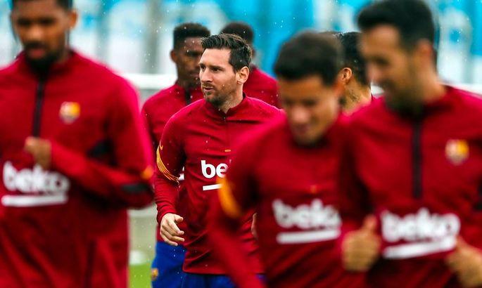 Месси и Суарес приняли участие в тренировке общей группы Барселоны