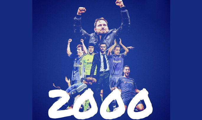 Челси стал третьим клубом Английской Премьер-лиги, который покорил отметку в 2000 очков