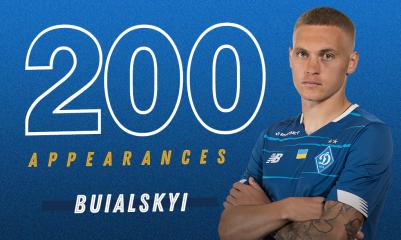 Буяльский сыграл свой 200-й матч за Динамо