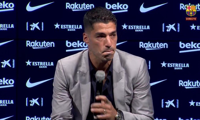 Суарес заплакав на прощальній прес-конференції в Барселоні