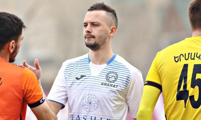 Вакуленко забил за Арарат-Армению во втором матче подряд и вывел команду в плеф-офф ЛЕ
