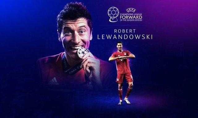 Роберт Левандовский - лучший нападающий сезона по версии УЕФА