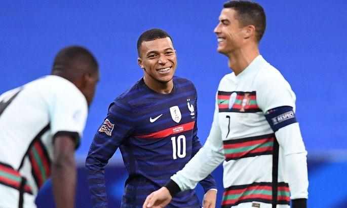 """""""Идол"""". Мбаппе поделился фотографиями с Роналду после мировой Франции с Португалией"""