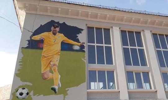 В Чернигове появился мурал с изображением Андрея Ярмоленко