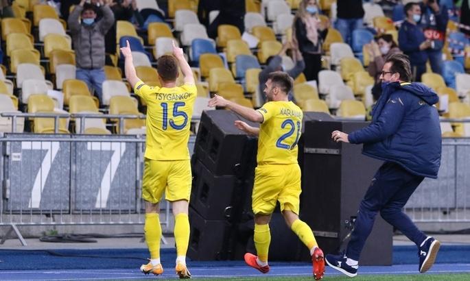 Лига наций. Украина - Испания 1:0. Привет от Цыникова