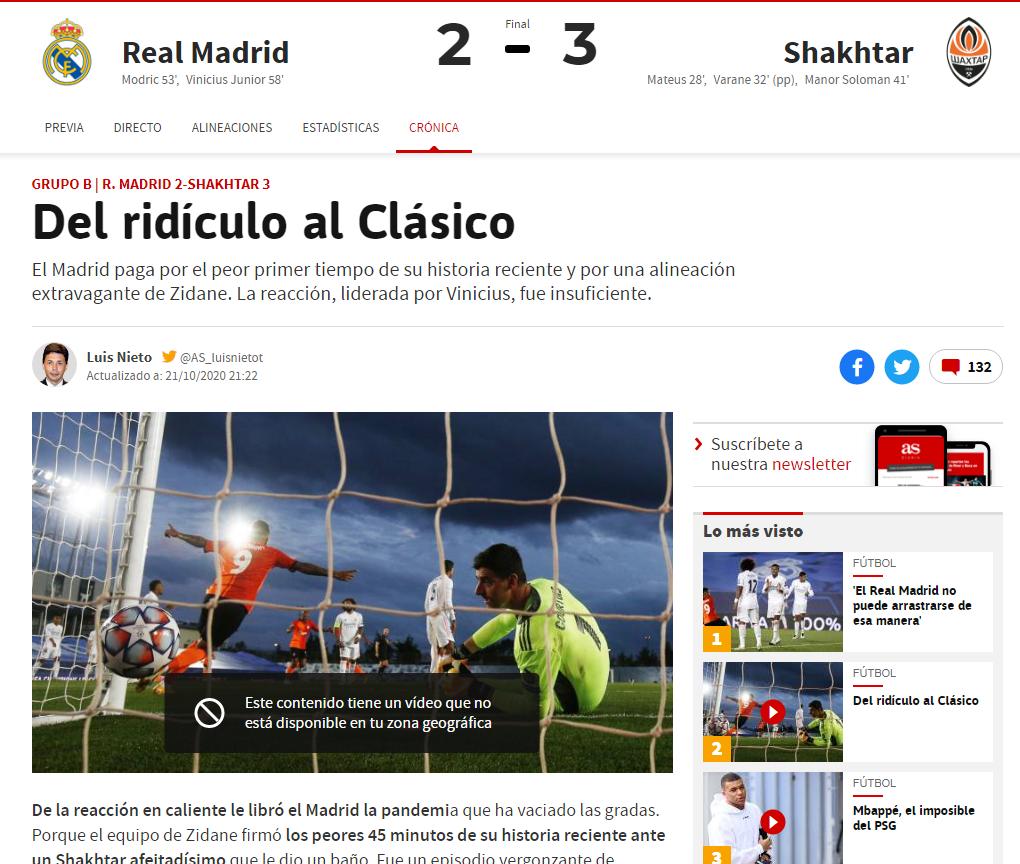 Поражение от Схатера, в самом легком матче группы, от команды, которая далеко не пройдет. Испанские СМИ – о провале Реала - изображение 2