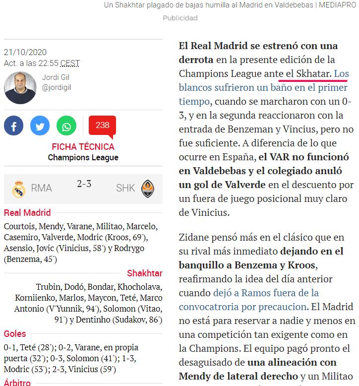 Поражение от Схатера, в самом легком матче группы, от команды, которая далеко не пройдет. Испанские СМИ – о провале Реала - изображение 3