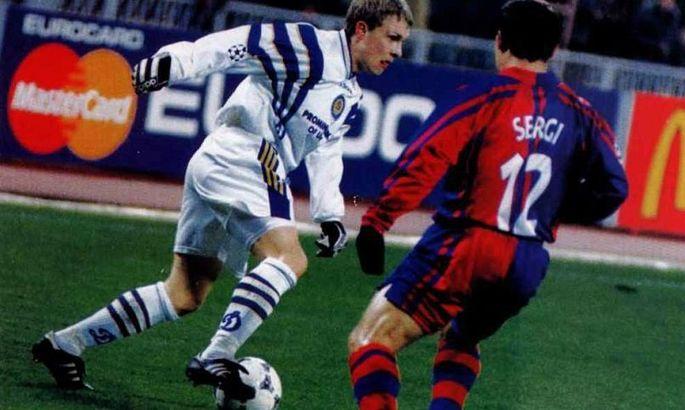Ребров, Максимов, Калитвинцев – 23 года назад Динамо забило три безответных мяча в ворота Барсы