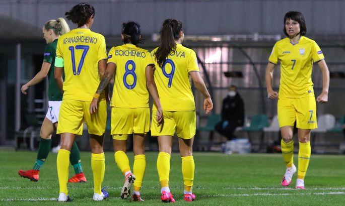 На удаче. Женская сборная Украины обыграла Ирландию и сохраняет шансы на выход на Евро-2022