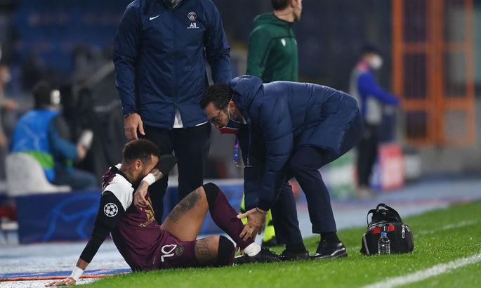 Сыграл лишь 26 минут. Неймар получил травму в матче Лиги Чемпионов