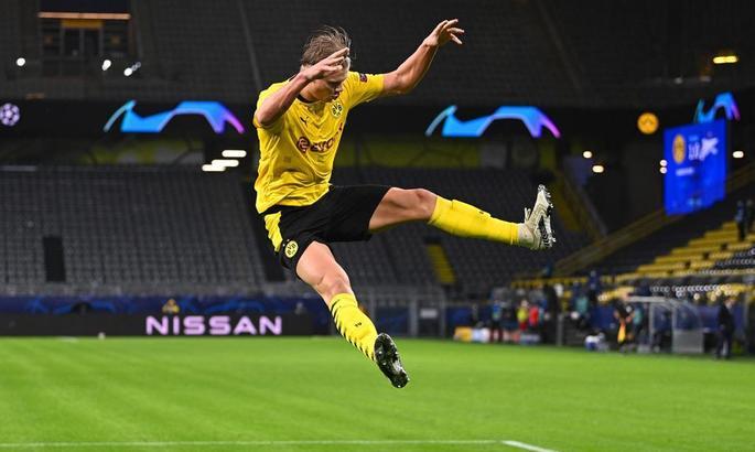Холанд убегает от Ракицкого. Боруссия - Зенит 2:0. Видео голов и обзор матча