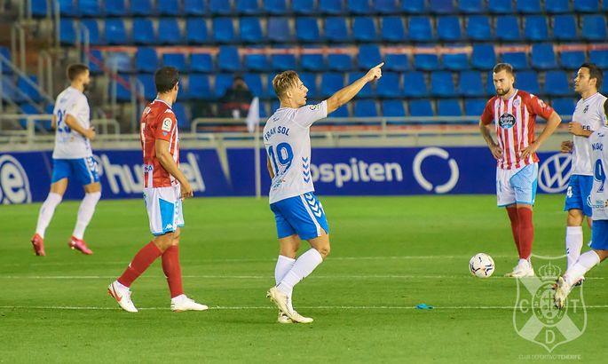 Соль забил свой дебютный гол за Тенерифе