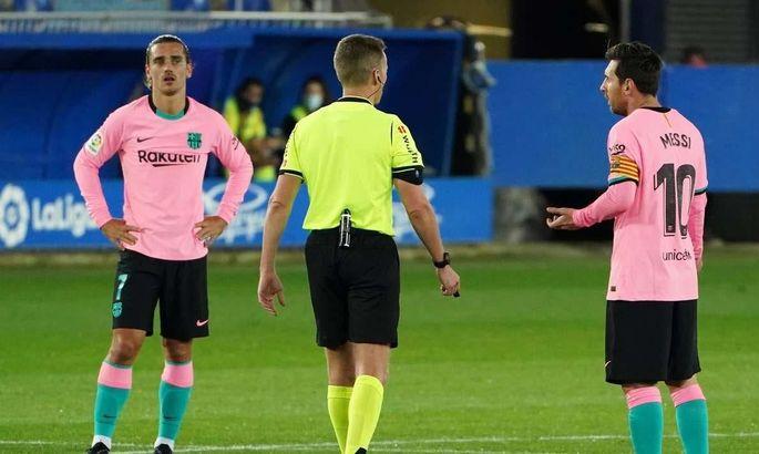 Алавес - Барселона 1:1. Близко к катастрофе