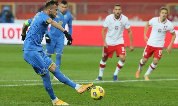 Ярмоленко сравнялся с Шовковским по количеству матчей за сборную Украины