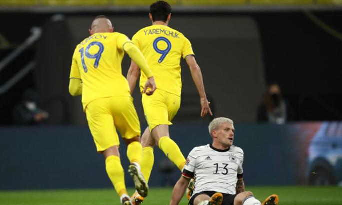 Зубков і Яремчук визнані WhoScored найкращими серед збірної України у матчі з німцями