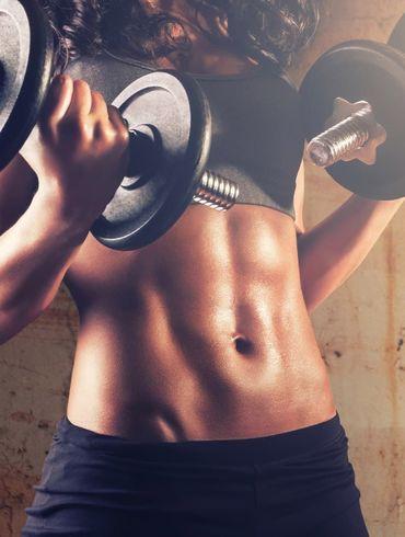 Тренировка пресса и питание для похудения живота