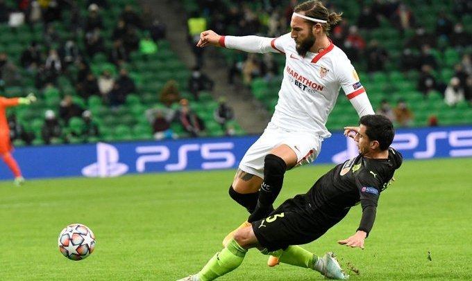 ЛЧ. Севилья обыграла Краснодар, забив победный гол на 90+5 минуте