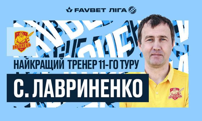 Наставник Ингульца признан лучшим тренером 11-го тура УПЛ