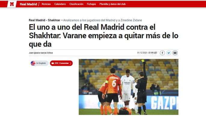 Киев видел и лучшую версию Реала, и ужасный матч. Испанские СМИ про игру Шахтер - Реал - изображение 1