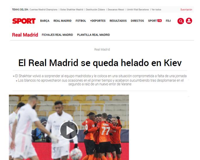 Киев видел и лучшую версию Реала, и ужасный матч. Испанские СМИ про игру Шахтер - Реал - изображение 2