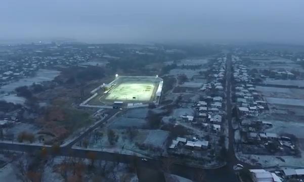 Вечерняя тренировка на заснеженном поле: Ингулец снял эффектное видео о подготовке команды